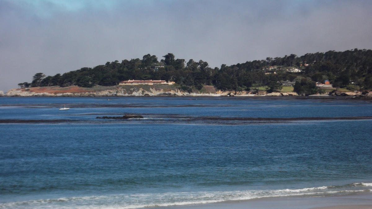 The view from the beach in Carmel.